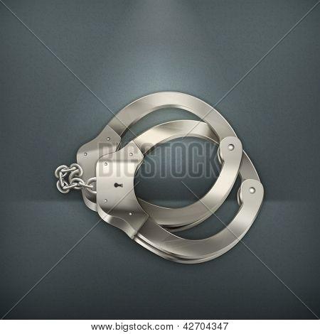 Handcuffs, vector