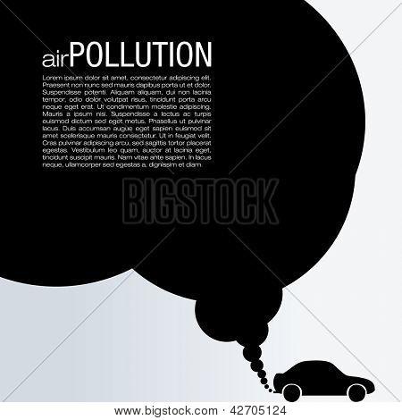 Luft-Verunreinigung-Vektor-Design