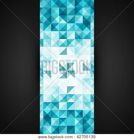 Blue Abstract Geometrical Background Template   Mosaic Vector Illustration   Modern Layout