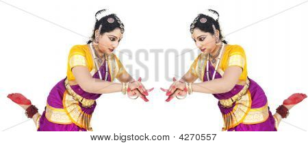 Female Bharathanatyam Dancer Of India