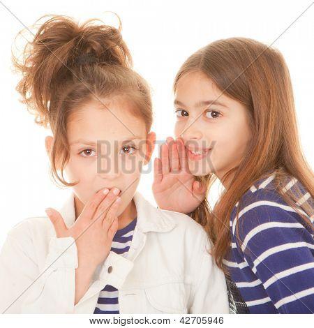 children whispering secrets shocking secrets scandal and gossip