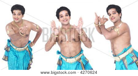 Male Bharathanatyam Dancer Of India