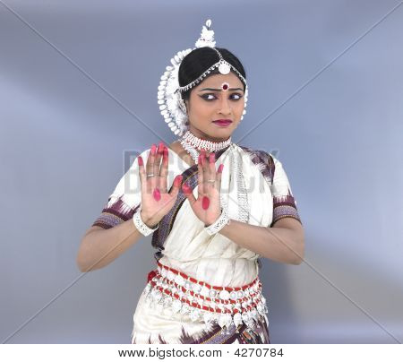 Female Odissi Dancer From India