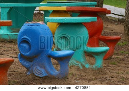 Whale Shaped Picnic Tables