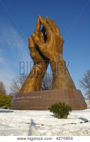 Praying Hands In The Snow