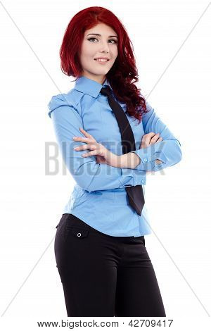 Young Businesswoman In Closeup