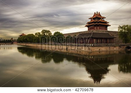 Forbidden City And The Moat, Beijing