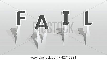 Illustration Of Fail Word