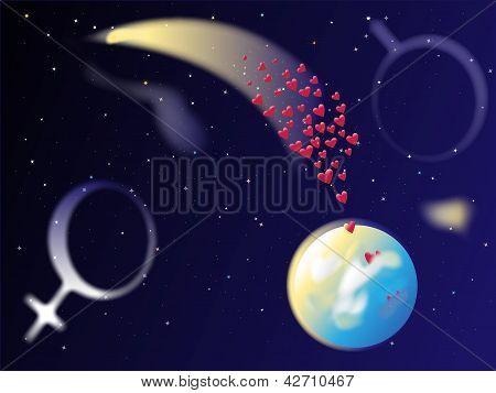 Heart Comet Space