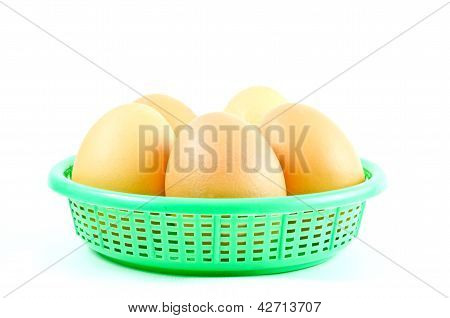 Eggs isolated on white background, chicken, albumen