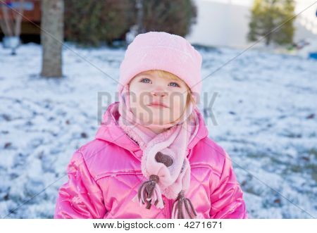 Toddler In The Winter