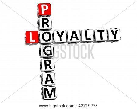 3D Program Loyalty Crossword
