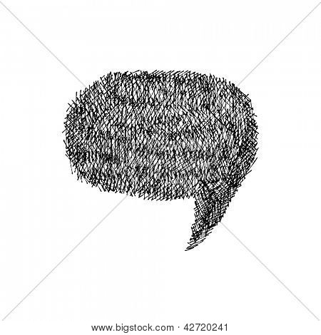 Speech bubble. Hand-drawn. Vector illustration.