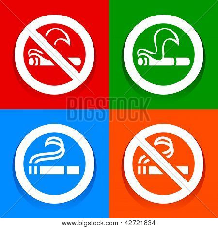No smoking and Smoking area - Multicolored stickers