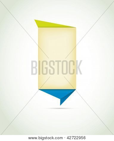 abstract folded template