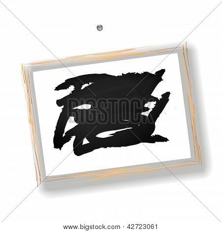 Little Blackboard On White