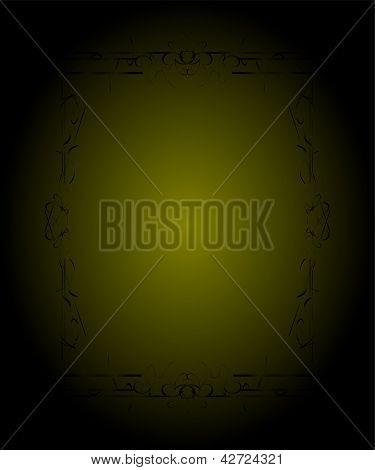 Ethnic Gold Frame On Abstract Ornament