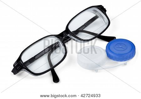 Contact Lenses And Glasses