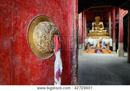 Door In Buddhist Temple.