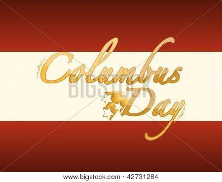 Cartão do dia de Colombo de ouro