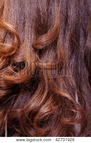 Background Of Wavy Auburn Hair