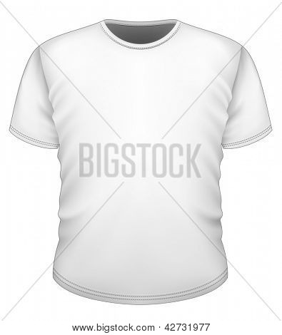 Vector. Men's t-shirt design template (front view).