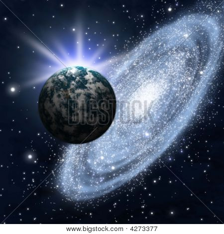 Astronomy Background Galaxy
