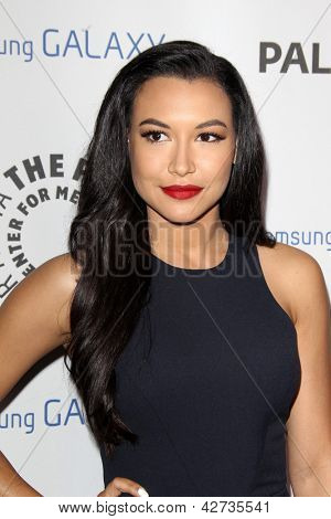 LOS ANGELES - FEB 27:  Naya Rivera arrives at the PaleyFest Icon Award 2013 at the Paley Center For Media on February 27, 2013 in Beverly Hills, CA