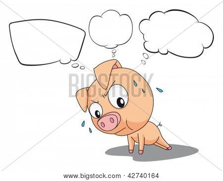 Illustration of the blank callouts and the pig on a white background
