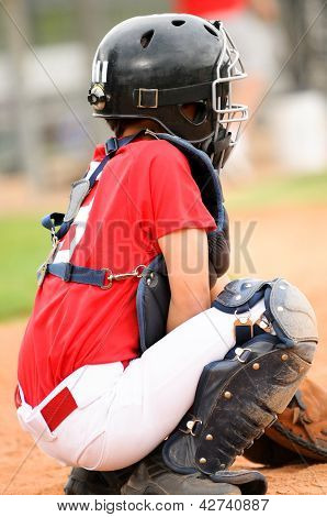 Catcher In Red Jersey