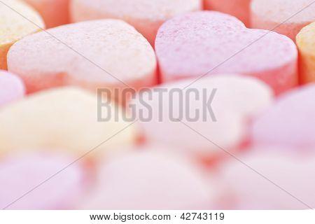 Sweet hearts shaped Sugar Pills.