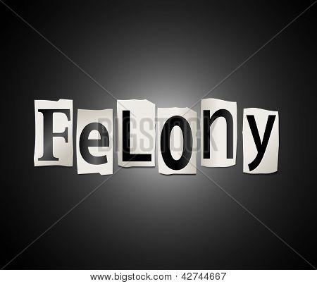 Felony Concept.