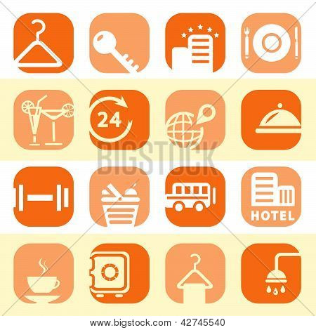 Color Hotel Business Icons