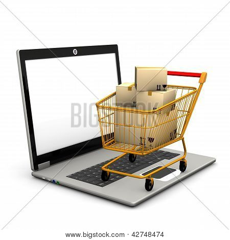 Laptop Shopping Cart