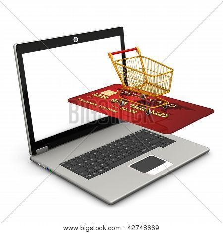 Laptop Mobile Shopping