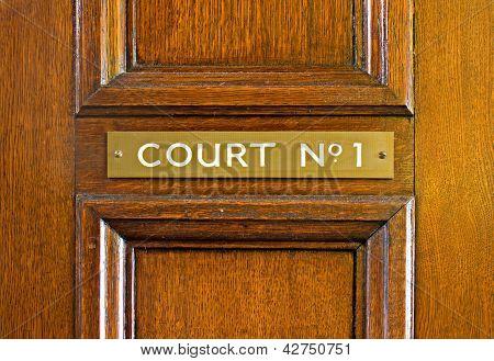 Oak Door Leading Into Court