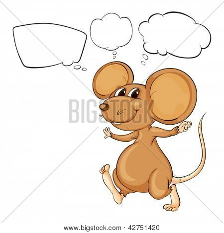 Illustration of the mighty brown mouse on a white background