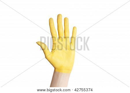 A Yellow Hand