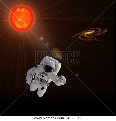 Astronaut And Sun