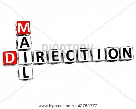 3D Mail Direction Crossword