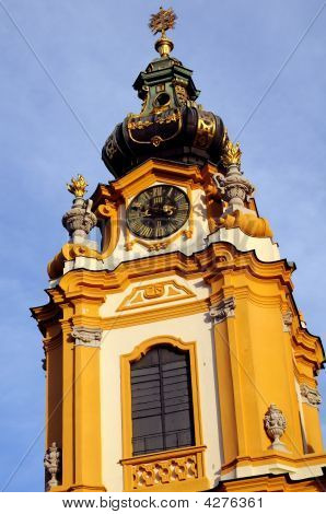 Church Steeple At Melk Abbey