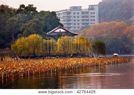 Ancient Chinese House, West Lake Hangzhou Zhejiang China