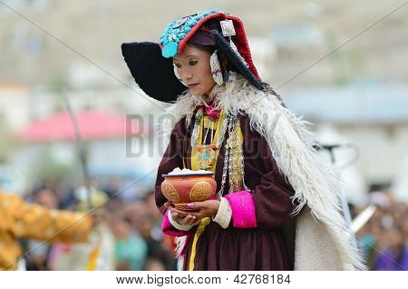 Dancer On Festival Of Ladakh Heritage