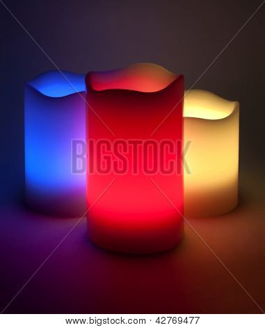 Three Led Candles