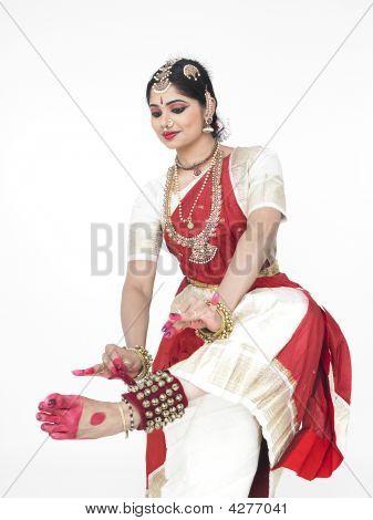 Female Bharathanatyam Dancer From India