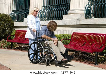 Nurse Disabled Patient