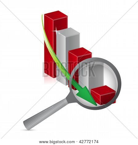 Negative Graph Loupe With Magnifying Glass