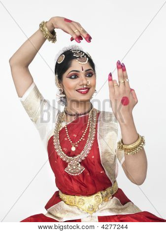 Young Female Dancer From India