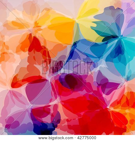 Multicolored background watercolor painting