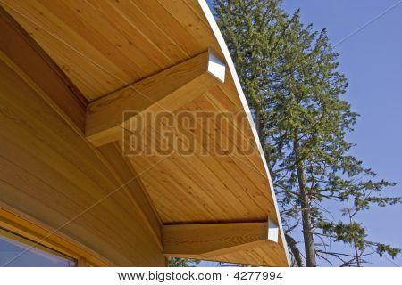 Holz-Rahmen Haus geschwungene Dachkonstruktion